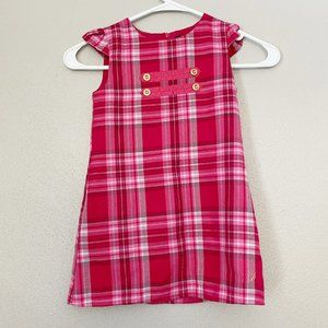 NAUTICA Kids Pink Plaid Jumper SZ 4T